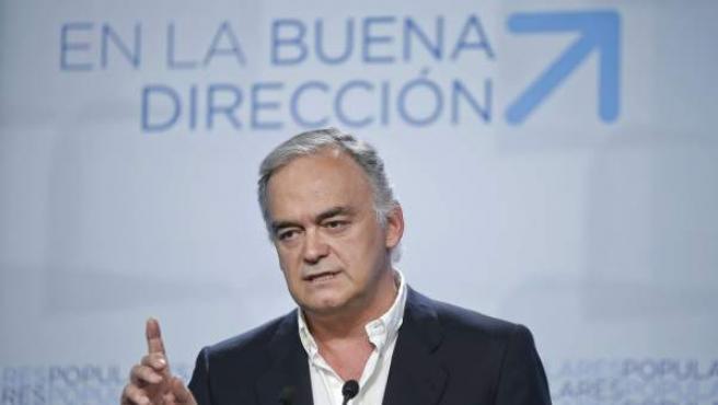 Esteban González Pons, en una rueda de prensa.
