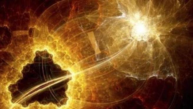 Imagen del momento de la explosión de la supernova captada por el observatorio CHARA
