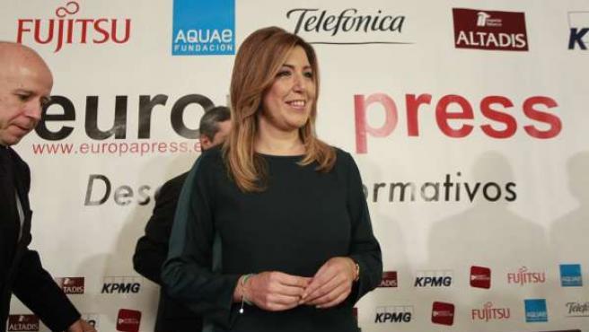 Susana Díaz en los Desayunos de Europa Press