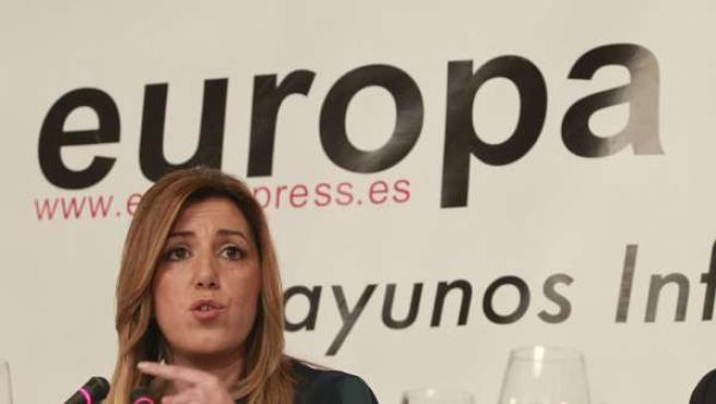 Susana Díaz en los Dessayunos de Europa Press