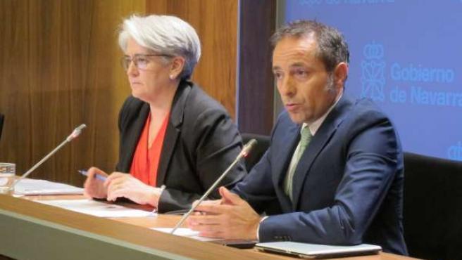 Lourdes Goicoechea y Juan Luis Sánchez de Muniáin.