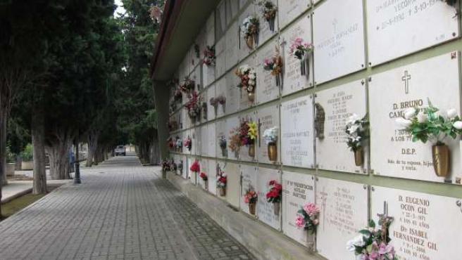 Imagen de flores en el cementerio de Logroño