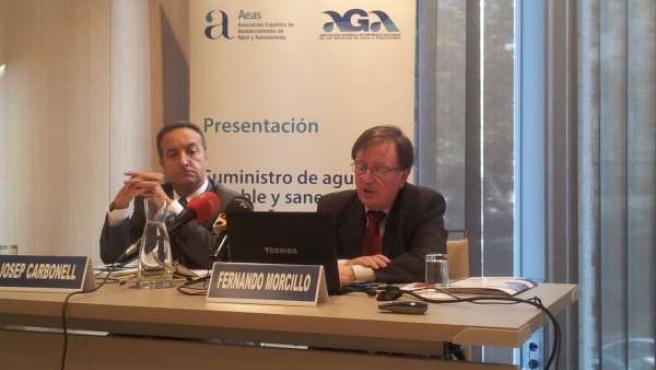 Los presidentes de AGA y AEAS, Fernando Morcillo y José Carbonell