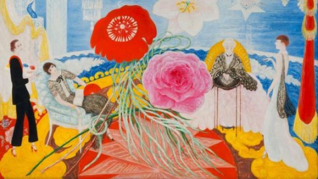 'Retrato de familia II', óleo de Florine Stettheimer incluido en la exposición
