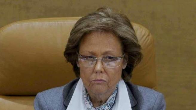 Imagen de Rosa Posada Chapado, vicepresidenta primera de la Asamblea de Madrid y primera mujer nombrada como Portavoz del Gobierno de España