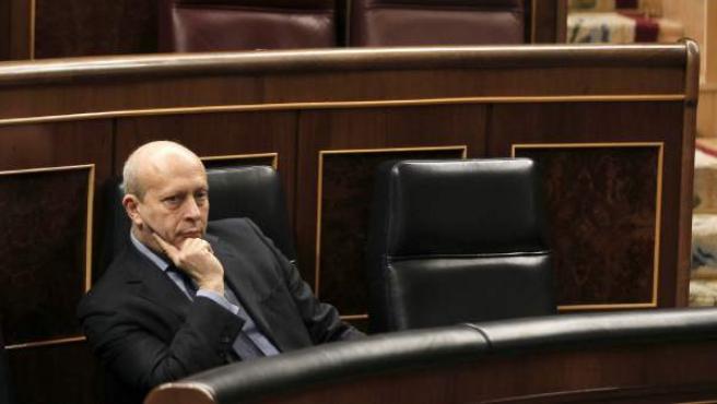 El ministro de Educación, José Ignacio Wert, en el Congreso.