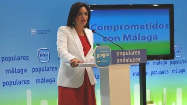 Margarita del Cid, en la sede del PP