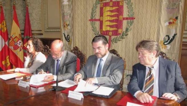 Firma del convenio de promoción gastronómica entre Valladolid y Guanajuato