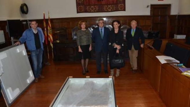 Lleida entrega al Gobierno de Aragón un retablo gótico