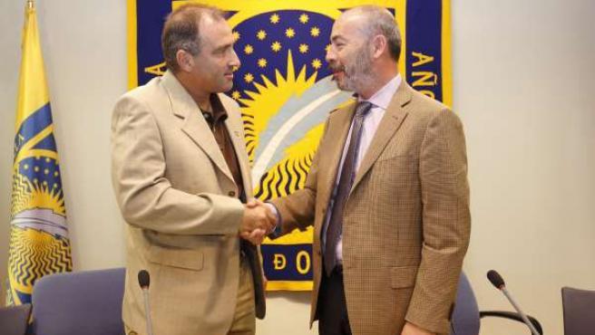 Firma del acuerdo entre la UPO y la UVM