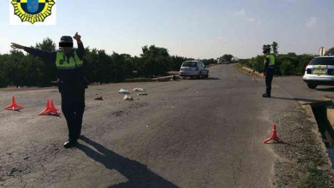 Accidente de tráfico en Burriana
