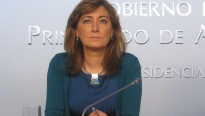 La consejera de Bienestar Social y Vivienda del Principado, Esther Díaz