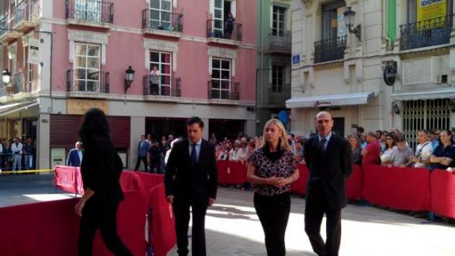 Sonia Castedo este jueves a su llegada al funeral de José Mari Manzanares