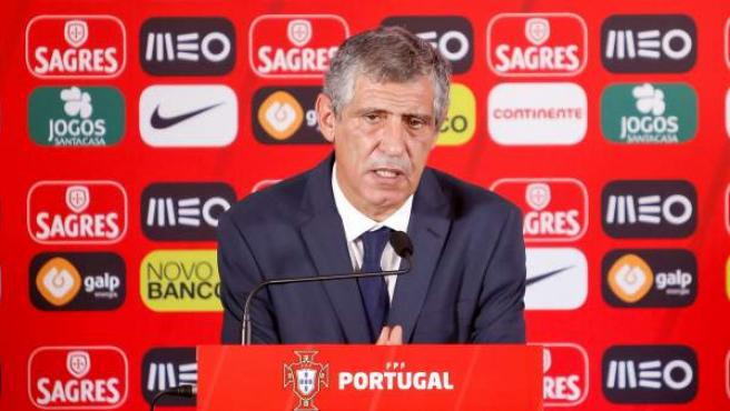 Fernando Santos en su presentación como seleccionador de Portugal.