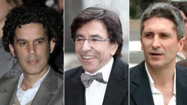 Pedro Zerolo, Elio Di Rupo y Fernando Grande-Marlaska.