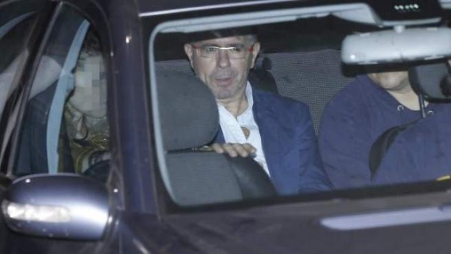 El exsecretario general del PP de Madrid Francisco Granados, saliendo del juzgado de instrucción número 2 de Majadahonda.