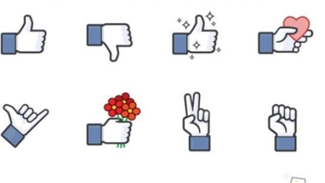Botón 'no me gusta' en Facebook en forma de 'sticker' para el chat.