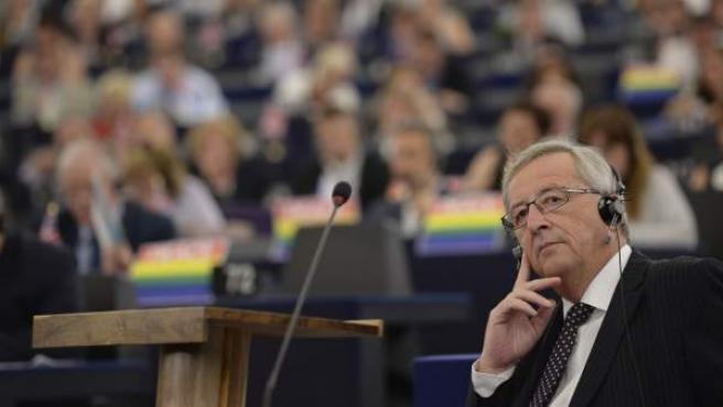 El luxemburgués Jean-Claude Juncker, en la Eurocámara.