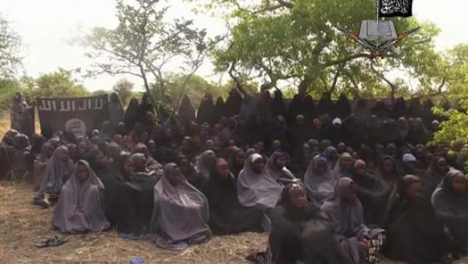 Imagen de las niñas secuestradas por Boko Haram, un acto que movilizó una campaña mundial para pedir su liberación.