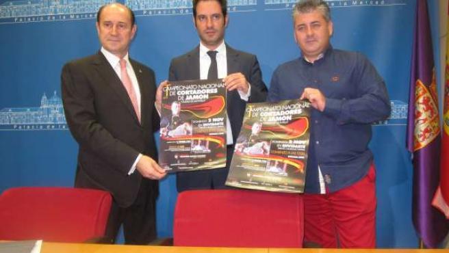 Presentación del certamen de cortadores de jamón de Montilla