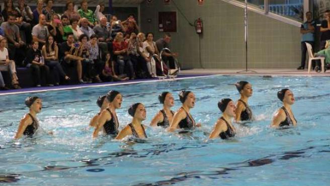 Equipo nacional natación sincronizada málaga piscina cubierta velez