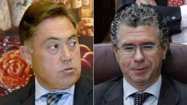 El presidente de la Diputación de León, Marcos Martínez y el exconsejero de la Comunidad de Madrid y ex secretario general del PP de Madrid, Francisco Granados.