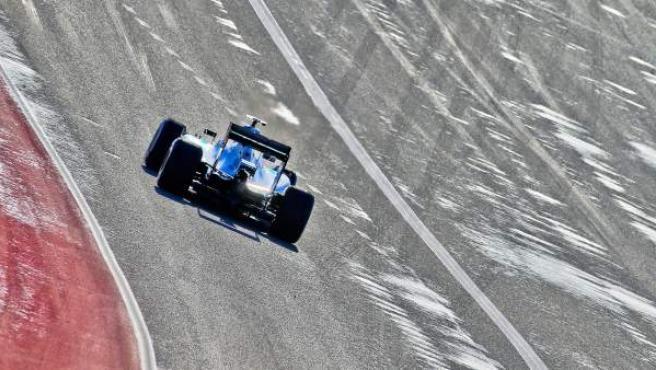 El Mercedes de Nico Rosberg, en la calificación del GP de Estados Unidos en Austin, Texas.