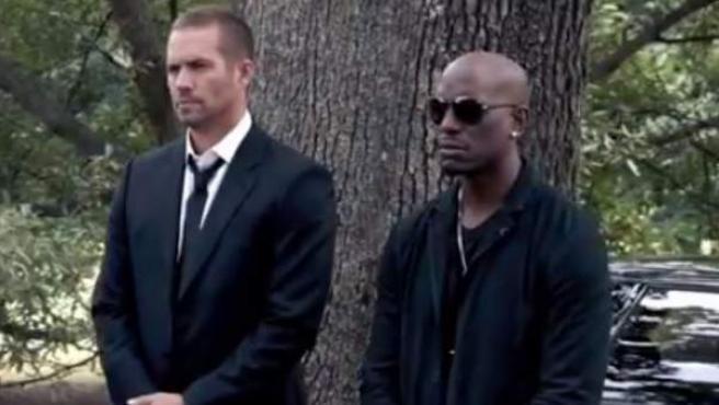 Imagen del tráiler oficial de 'Furious 7', la película póstuma de Paul Walker.
