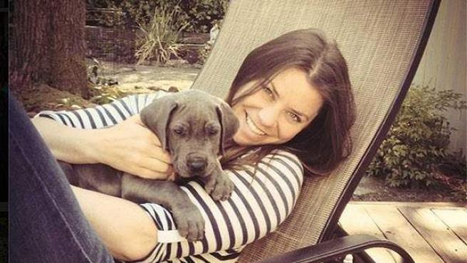 Brittany y su perro Charley.