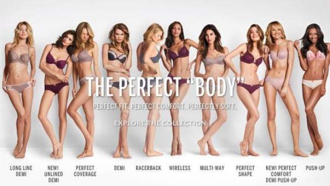 Imagen de la campaña 'The perfect Body' de Victoria's Secret.