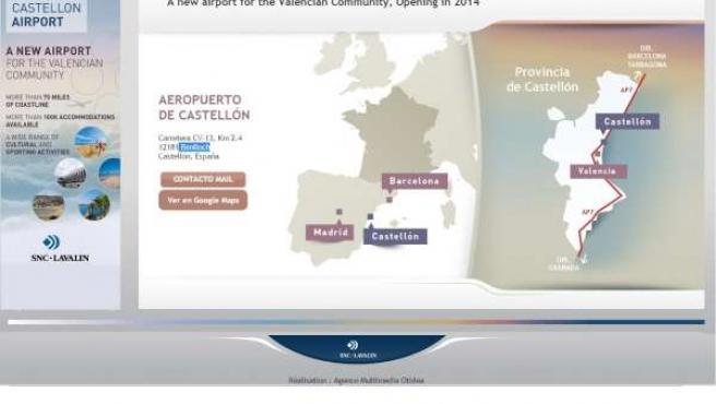 Página web del aeropuerto de Castellón