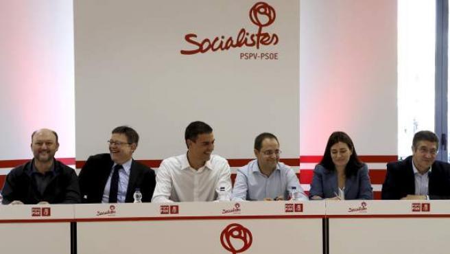 El secretario general del PSOE, Pedro Sánchez, preside la reunión de la Comisión Ejecutiva Federal del partido.