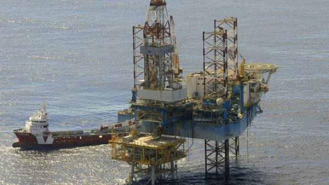 Fotografía de archivo de la plataforma del almacén subterráneo de gas natural del Proyecto Castor (Vinarós, Castellón).