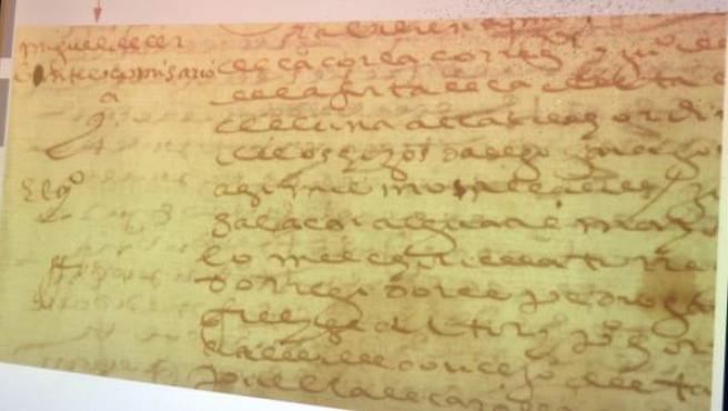 Documentos inéditos de Miguel de Cervantes, máximo representante de la literatura española.