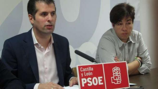 Luis Tudanca en la sede del PSOE de Salamanca