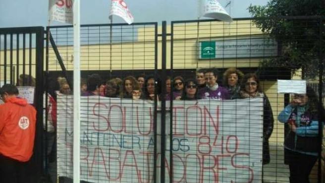Monitores en el encierro en un colegio de Bormujos (Sevilla)