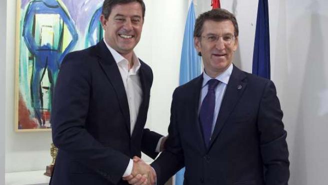 Feijóo y Besteiro, reunión de noviembre de 2014