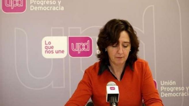 La responsable regional de UPyD, Fuensanta Máximo