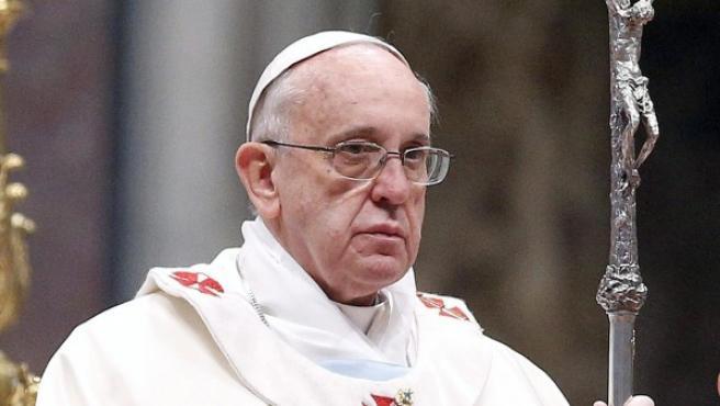 El papa Francisco durante una misa.