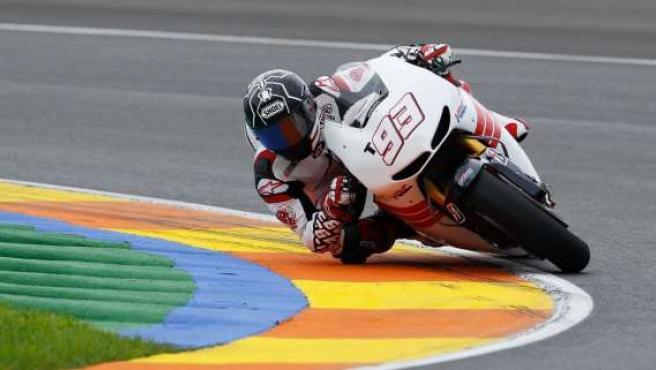 Marc Márquez en su primer entrenamiento en MotoGP en Cheste