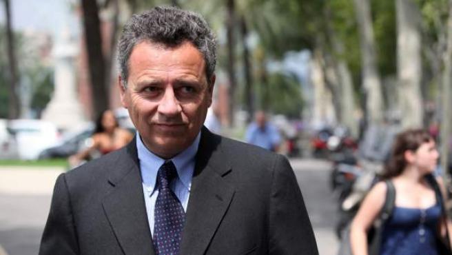 El empresario inmobiliario Josep Lluís Núñez i Navarro, hijo del expresidente del FB Barcelona Josep Lluíz Núñez, a su llegada al Palacio de Justicia de la capital catalana.