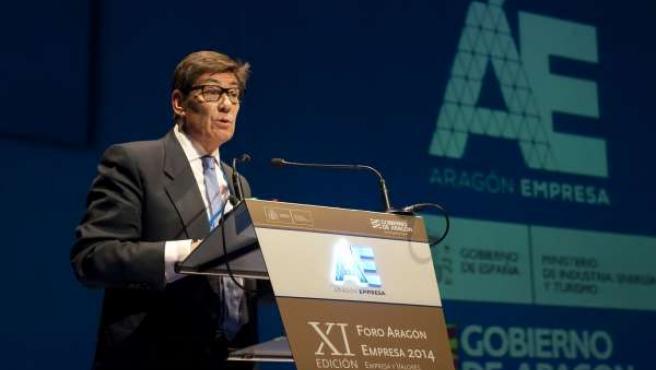 El consejero Aliaga inaugura el Foro Aragón Empresa 2014