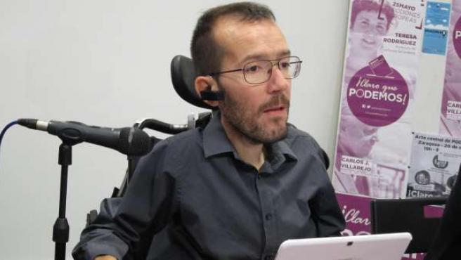 El eurodiputado de Podemos, Pablo Echenique