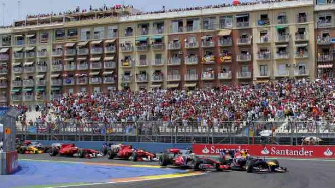 Circuito urbano de Valencia de Fórmula 1 (ARCHIVO).