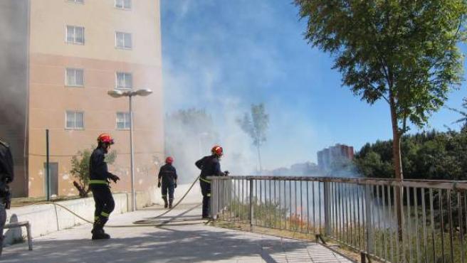 Intervención de los Bomberos de Valladolid