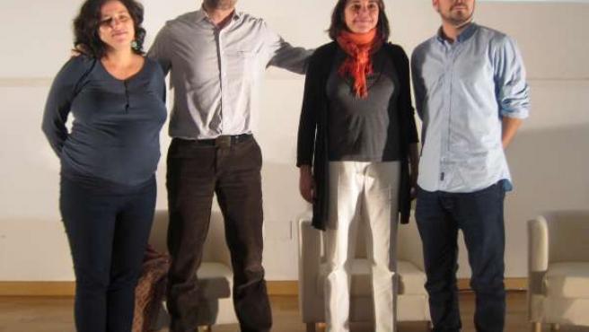 Amanda Meyer, Antonio Maíllo, Elena Cortés y Alberto Garzón IU en Málaga