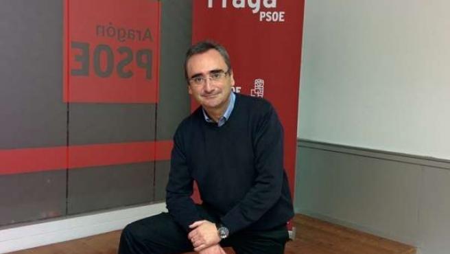 Portavoz del PSOE en el Ayuntamiento de Fraga, Miguel Luis Lapeña.