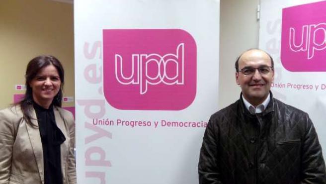 Los dos candidatos de UPyD por León.