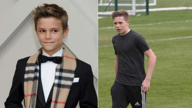 Romeo (izda) y Brooklyn (dcha) Beckham.