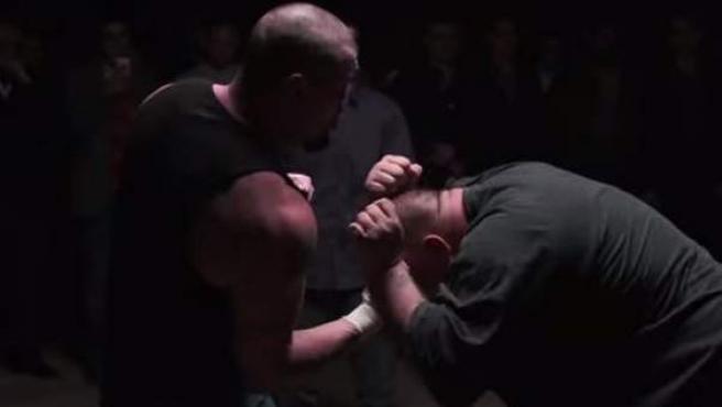 Una imagen de una pelea de puños desnudos en Delaware, Estados Unidos.